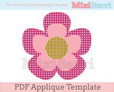 Flower Applique Template PDF