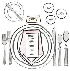 A Table Setting Cheat Sheet: For a Formal Meal #IvankaTrump