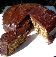 ΜΑΓΕΙΡΙΚΗ ΚΑΙ ΣΥΝΤΑΓΕΣ 2: Κορμός τούρτα με γλάσο σοκολάτας !!! Greek Sweets, Greek Desserts, Greek Recipes, Desert Recipes, Cupcakes, Cake Cookies, Cake Decorating For Beginners, Homemade Granola Bars, Food Gallery