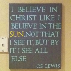 CS Lewis. I like that (: