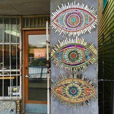 On the Street: Shank Charcuterie, New Orleans — True Mosaics Studio Mosaic Wall Art, Mosaic Diy, Mosaic Crafts, Mosaic Projects, Mosaic Glass, Mosaic Tiles, Stained Glass, Art Projects, Glass Art