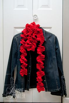 Capturing Everyday Life...: DIY Fleece Scarf: 15 minutes, Sew Easy!