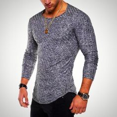 d2255c918121 Striped Fashion Long Sleeve T-Shirt for Men