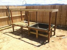 above ground duck pen and pool