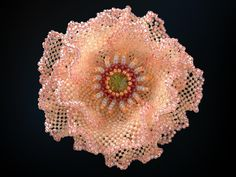 rosa salmone pallido perline scintillanti corpetto