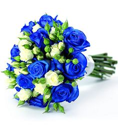 Kolorowe Inspiracje Ślubne Niebieski Blue Flowers Bouquetblue Wedding Bouquetsblue
