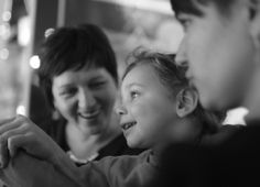 Photo of adult talking with child