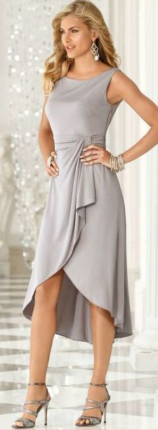 Flattering dress for women over 50. If it fits.