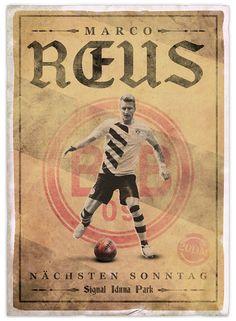 Vintage style football advertisements.