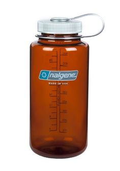 Nalgene Wide Mouth Water Bottle, 1-Quart, Rustic Orange N...