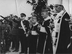 WWII. - 1942. - Croatia / NDH - Zagreb - Biskup Stepinac blagosiva ustaše na odlasku na Istočni front