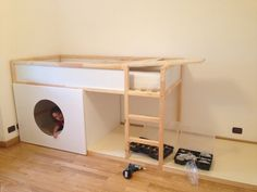 IKEA Kura bunk bed - adding plywood