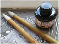 DIY Suminagashi - Painting on water - Floating ink - Marbling - YouTube