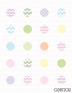 Pastels Chevron and Dots Digital Image by graphicdesignbytara