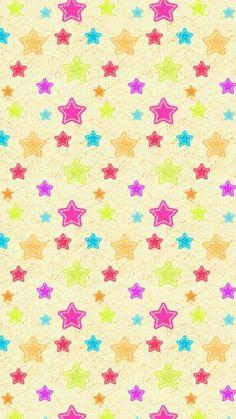 iphone 6 Plus Iphone Wallpaper Stars, Wallpaper For Your Phone, Wallpaper Backgrounds, Iphone Wallpapers, Kawaii Wallpaper, Colorful Wallpaper, Montage Photo, Cute Patterns Wallpaper, Pretty Wallpapers