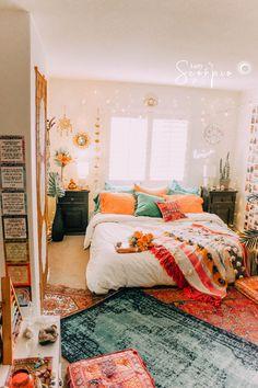 College bedroom decor - 40 amazing college dorm room decor ideas and remodel 19 Dressing Room Design, Boho Room, Room Decor Boho, Wall Decor, Bohemian Bedroom Diy, Zen Bedroom Decor, Blue Room Decor, Bohemian Dorm, Stylish Bedroom
