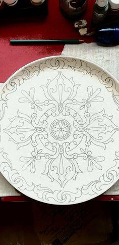 Dot Painting, Ceramic Painting, Fabric Painting, Ceramic Art, China Painting, Painting Patterns, Pottery Painting Designs, Pottery Designs, Paint Designs