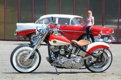 ☆ Old school style Harley-Davidson.