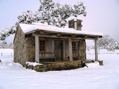 It's almost spring, but this cabin is still in winter. Hopefully, it's warm inside! :) From Cabin Life in Maine Winter Cabin, Cozy Cabin, Cozy Cottage, Guest Cabin, Little Cabin, Little Houses, Small Houses, Cabin Homes, Log Homes