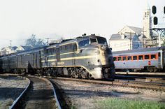 New Haven Railroad DER-1c ALCO DL-109 locomotive # 0756, is seen leading an eastbound passenger train into the station at Providence, Rhode Island, mid 1950's, Mac Seabree Collection