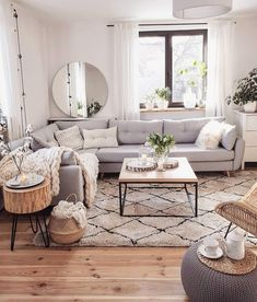 If you are looking for Scandinavian Living Room Design Ideas, You come to the right place. Below are the Scandinavian Living Room Design Ideas. Beautiful Living Rooms, Cozy Living Rooms, Home Living Room, Living Room Designs, Living Room Decor With Grey Couch, Living Room Apartment, Grey Home Decor, Small Living Room Kitchen Ideas, Living Room With Carpet