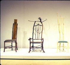 Prairie Chair, Root Chair, Peeled Bark Chair. Artist Daniel Mack.