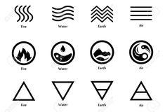Vector Illustration Four Elements Icons Line Stock-Vektorgrafik (Lizenzfrei) 764304982 Four Elements Tattoo, 4 Elements, 5 Elements Of Nature, Erde Tattoo, Hawaiianisches Tattoo, Element Tattoo, Mini Tattoos, Air Symbol, Earth Symbols