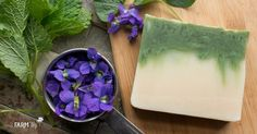 Learn how to take one basic soap recipe and make a healing skin bar, sunflower soap and spring violet soap from it.
