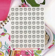 CLEAR Planner Stickers, Alarm Clock Planner Stickers, Erin Condren Planner Stickers, Happy Planner Stickers, Transparent Stickers (st188#) by CENTERPATCH on Etsy