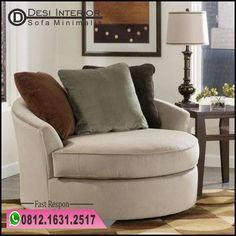 Magnificent Round Sofa Chair With Cup Holder Oversized Lounge Oval Chair Oversized Round Swivel Chair With in Home Interior Design Reference Gebogenes Sofa, Round Swivel Chair, Living Room Chairs, Living Room Furniture, Furniture Sale, Office Furniture, Furniture Ideas, Big Chair, Curved Sofa