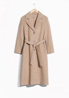 & Other Stories   Loose Alpaca Blend Coat
