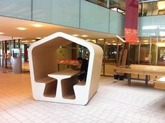 "From the the State Library of Queensland, Australia - ""booths"" that could inspire a cafe' design!"
