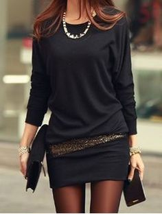 Super Cute! Love the Sequined Placket! Sexy Grey Long Sleeve Sequin Embellished Packet BodyCon Women's Dress Fashion #Sexy #Grey #BodyCon #Sequin #Dress #Fashion