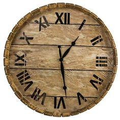 Barrel Wall Clock http://shop.crackerbarrel.com/Barrel-Wall-Clock/dp/B00UTH8NWQ