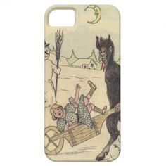 Krampus Kidnapping Child iPhone 5 Cases