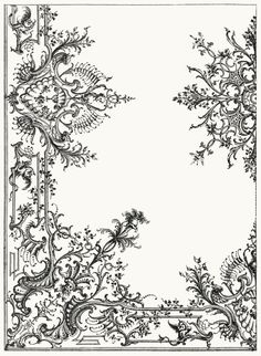 Ceiling decoration.  From Architecture, décoration et ameublement pendant le dix-huitième siècle (Architecture, decoration, and furnitures in the 18th century), by Léon Roger-Milès, Paris, 1900.  (Source: archive.org)