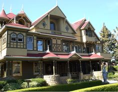 The Winchester Mansion - I know it's haunted and creepy and stuff.... but it sure is pretty.