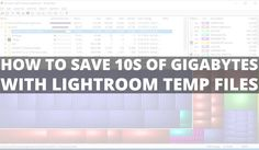 "How to save 10s of gigabytes with lightroom temp files    If you are a Lightroom user keep your attention with this tip. Our friend Udi Tirosh(from DIYP) has a solution to ""just"" save over 10 gigs or more (yes this is right gigs!!) of space on your hard drive. It has to do with how Lightroom updates watch the video or read the full post onhttp://ift.tt/JM7Yq9  And remember follow Udi and his team they always have great news about photography..   SUBSCRIBE Get Latest VideosPromotions…"