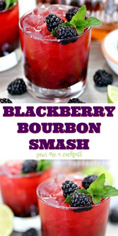 Tis the season for fresh berries, and adding them to cocktails is the perfect way to enjoy them! Grab your favorite bourbon and some berries, and make this amazing Blackberry Bourbon Smash Cocktail. Lemonade Cocktail, Cocktail Drinks, Fun Drinks, Food And Drinks, Raspberry Cocktail, Beverages, Champagne Cocktail, Pina Colada, Bourbon Smash