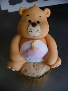 Birthday Bear care bear cupcake