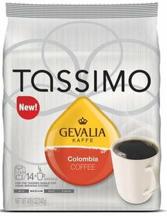 Gevalia Colombia Coffee for Tassimo Brewers (14 Count) - http://teacoffeestore.com/gevalia-colombia-coffee-for-tassimo-brewers-14-count/