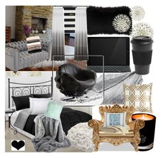 """""""Room faves"""" by star-lightt ❤ liked on Polyvore featuring interior, interiors, interior design, home, home decor, interior decorating, Logitech, EB Florals, Andrew Martin and Joybird"""