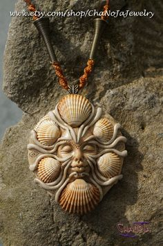 PRIVATE-Medusa of the Sea Pendant-seashells female energy golden magic ocean themed sandy shore goddess jewelry mermaid secret   by ChaNoJaJewelry on Etsy