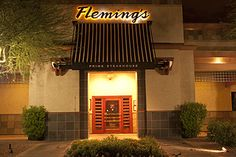 Flemings Prime Steakhouse. Perfection. Terrific food and the service is like a finely tuned orchestra. Remarkable every time I have the privilege of dining here.