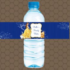 BELLE Beauty and the Beast Water Bottle Labels Wrappers Stickers Printable Uprint Digital DIY Instant Download by KDesigns2006