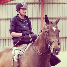 #HarryHall Ambassador Jenna Tyldesley during her #sidesaddle demo at her yard visit! Check out our next visits lined up next month!