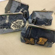 ハンドメイド「cheerful!!」 (@cheerful66handmade) | Instagram photos and videos Old Jeans, Denim Bag, Resin Jewelry, Handmade Bags, Refashion, Purses And Bags, Coin Purse, Fashion Accessories, Michael Kors