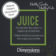 Recommendation from Dimensions of Dental Hygiene in honor of National Children's Dental Health Month.    #dentalhygiene #dimensionsofdentalhygiene