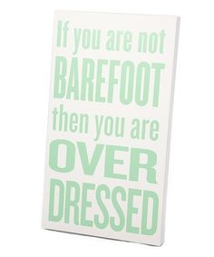 This White & Mint 'Barefoot' Wall Art by Twelve Timbers is perfect! #zulilyfinds