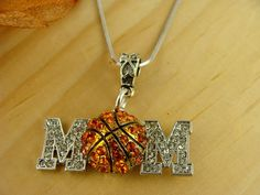 BASKETBALL MOM  silver fashion Necklace. $20.00, via Etsy.